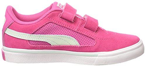 Puma Evolution V Kids, Baskets Basses Mixte Enfant Rose (carmine Rose-fair Aqua 14)