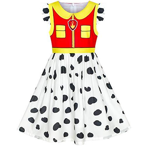 Sunboree Mädchen Kleid Pfote Patrouillieren Marshall Kostüm Halloween -