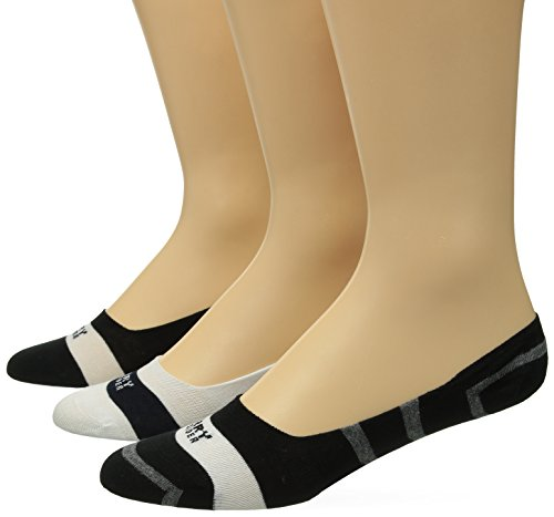 's Signature Invisible Stripe Liners, Black/Charcoal Heather, Sock Size:10-13/Shoe Size: 6-12 ()