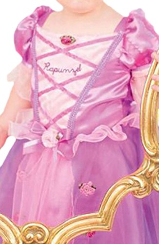Karnevalsbud - Baby - Mädchen Süßes Rapunzel-Kostüm, Prinzessin, Disney-Kostüm, Fasching, S, Rosa