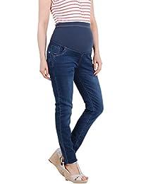 KRISP® Collection Maternité Jeans Skinny Délavé Pantalon Cigarette Over Bump Tendance