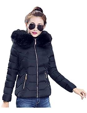 KOROWA Giacche invernali con cappuccio sottile in pelliccia di pelliccia