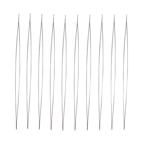 Healifty 10PCS Big Eye Beading Needles Easy Threading Needles for DIY Craft Bracelet Necklace Jewelry Making