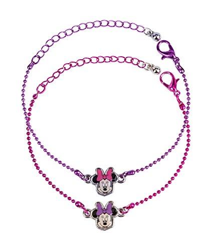 (SIX 2er Set Disney Minnie Maus Armband Kugelkette Micky Mouse Kostüm für Kindergeburtstag rosa (294-600))