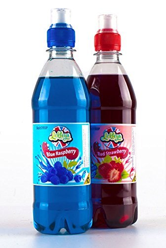 twin-pack-of-slush-syrup-concentrates-2-x-500ml-of-blue-raspberry-and-red-strawberry-with-free-straw