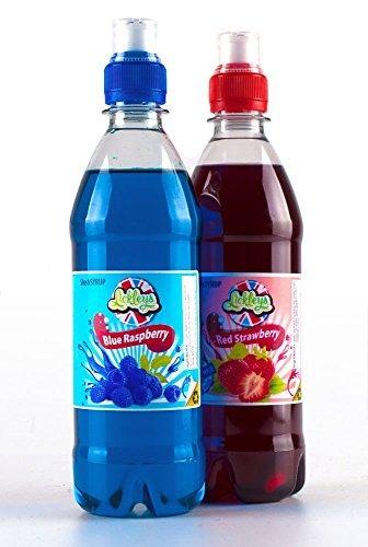 pacco-doppio-di-granita-sciroppo-concentrati-2-x-500ml-blu-lampone-e-rosso-fragole-with-free-cannucc