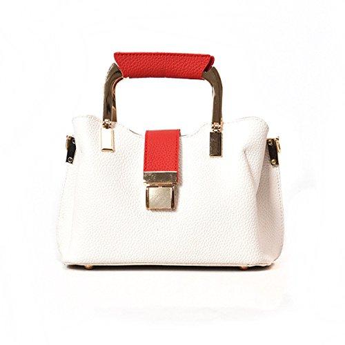 Metallo Fibbia Spalla Borsa Da Donna Messenger Portatile Trendy Moda Selvaggio Casual Solido Piccolo Sacchetto Quadrato Red