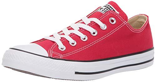 Converse chuck taylor all star core ox, sneaker unisex, rosso, taglia 42