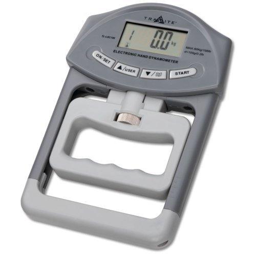 Trailite Digitales Hand-Dynamometer für automatische Stärkemessung, misst bis zu 90 kg