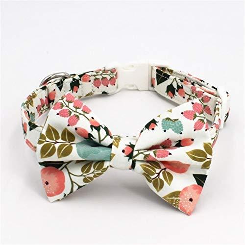 MRyezi Afloral Hundehalsband Fliege passenden Blei zur Auswahl, Beste Hochzeit Hundehalsband Geschenke für Ihre Petfloral Hundehalsband Fliege passenden Blei zur Auswahl, Beste Hochzeit Hundehalsband