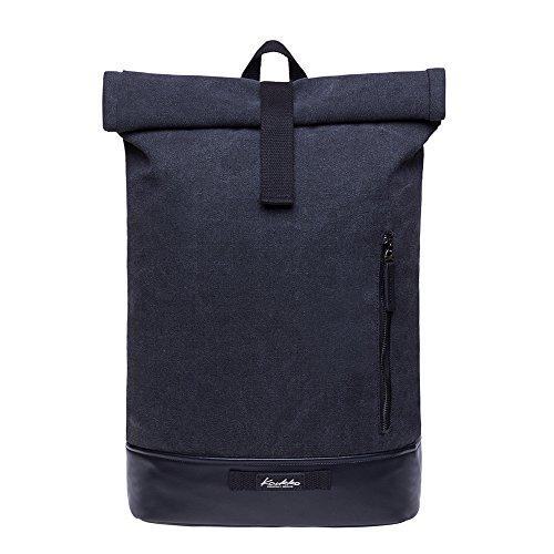 """KAUKKO Rucksack Roll Top Backpack Ortlieb Urban Vintage Tagesrucksack Herren Laptop Schulrucksack für 15\"""" Notebook Daypacks Schultaschen für Wandern Reisen Camping"""