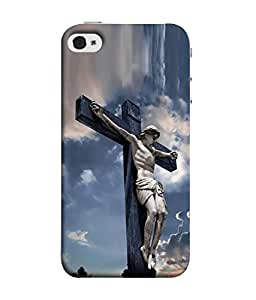 PrintVisa Designer Back Case Cover for Apple iPhone 4 (Catholic Catholicism Cemetery Cross Christ Christian Beautiful Christianity)