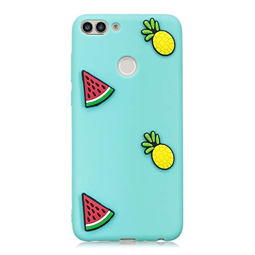 art 2018/Enjoy 7S Hülle Silikon Bumper Gummi Cover Hüllen für Huawei P Smart 2018 Handyhülle Stoßfest TPU Stoßstange Candy Farbe Schutzhülle (Grün) ()