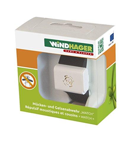 Windhager Mückenabwehr Watch Batterie Fernhaltemittel Mücken Armband Anti Mückenarmband, schwarz, 37111