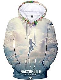 finest selection 013b9 d3382 EMILYLE Bambini e Ragazzi Marshmello DJ Suono Elettrico EDM Cool Hoodie  Stampata in 3D Felpe con