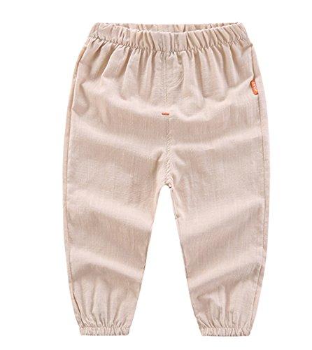 Hellomiko Jungen-Hosen, Kleinkind-Baby-Jungen beschnitten 4/5 Hosenhosen Anti-Moskito-Sonnencreme-Hosen