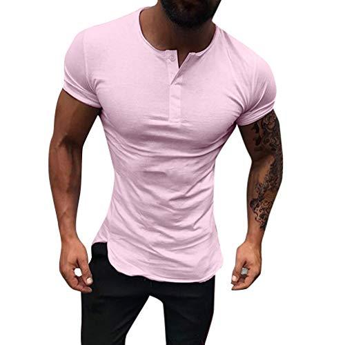 Hombre Manga Corta,YanHoo Hombre Camisetas Deporte