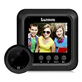 Electronic Cat Eye Kit X7 ,2.4-Zoll-TFT-Farbdisplay Home Smart Türklingel Sicherheit Türspion Versteckt Kamera Elektronische Cat Eye (Farbe : SCHWARZ)
