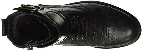 Tommy Hilfiger B1285ologna 1c1, Bottes Classiques femme Noir - Noir (990)