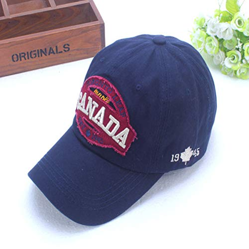 zhuzhuwen Damenhut Korean Spring Cap Embroidered Letter Herren Casual Baseball Cap 1 verstellbar