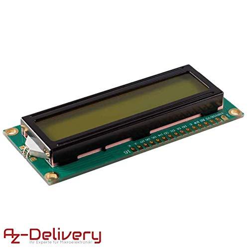AZDelivery ⭐⭐⭐⭐⭐ HD44780 1602 LCD Modul Display 2x16 Zeichen für Arduino mit gratis eBook! (mit grünem Hintergrund)