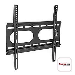 Hama TV-Wandhalterung Ultraslim (für Fernseher von 32 bis 56 Zoll (81 cm bis 142 cm Bildschirmdiagonale), inkl. Fischer Dübel, VESA bis 400 x 400, Wandabstand nur 2,5 cm, max. 50 kg) schwarz