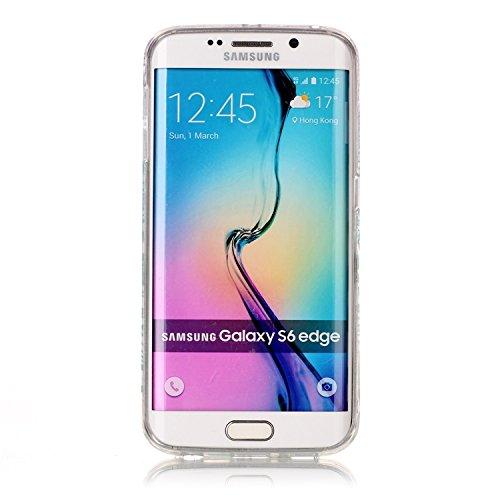 Coque Samsung Galaxy S6 Edge TPU Case Cover Absorption de Choc Hull, Vandot Samsung Galaxy S6 Edge Etui Silicone Souple Transparente Case Très Légère Housse Ajustement Parfait Coque pour Samsung Galax C-Ananas