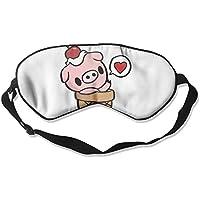 Cute Cartoon Pig Ice Cream 99% Eyeshade Blinders Sleeping Eye Patch Eye Mask Blindfold For Travel Insomnia Meditation preisvergleich bei billige-tabletten.eu