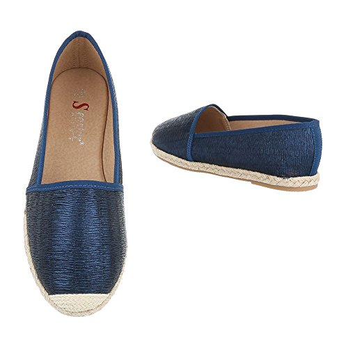 Ital-Design - Low-top Uomo , blu (Hellblau), 45