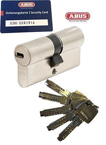 Preisvergleich Produktbild ABUS EC660 Profil-Doppelzylinder Länge (a / b) 40 / 45mm (c=85mm) mit 5 Schlüssel,  mit Sicherungskarte