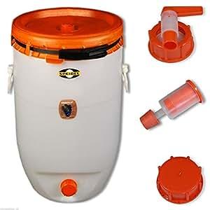 Fûts à boisson SPEIDEL 120 L rond, fermenteur + 1 airlock + 1 robinet + 1 bouchon (22150+22137+139+140)