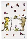 Janosch Blumenregen 100x160cm beige