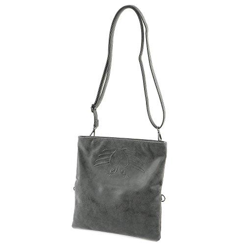 Fritzi aus Preußen Ronja BW Vintage Clutch Umhängetasche 29 cm black1