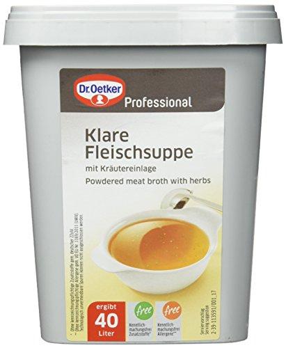 Dr. Oetker Professional Klare Fleischsuppe mit Kräutereinlage, Trockenmischung in 880 g Dose
