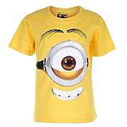 16646435f6 Minions Stuart Face T-Shirt, Giallo (Yellow YEL), 11-12 Anni Bambino