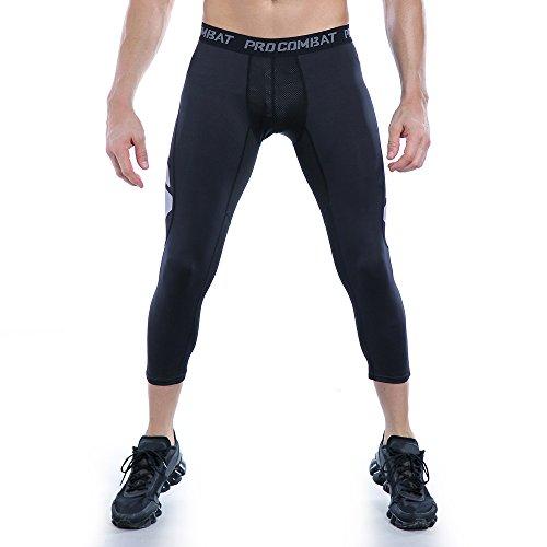 AMZSPORT Sports Hombres Calcetines de Cmpresión Cold Dry UX Leggings de Baselayer Pantalones térmicos Pantalones de entrenamiento profesional para toda la temporada
