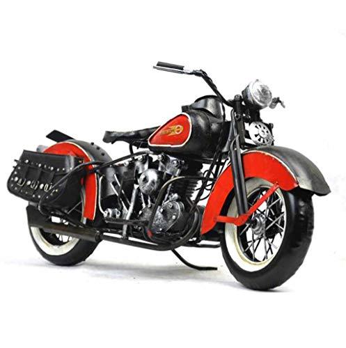 ZXWDIAN Automodell Spielzeugauto Retro kreative einrichtungen motorrad modell requisiten studie fenster bar fotografie metall stil dekorative handwerkSchwarz 38x18x20 cm Autos Fahrzeuge Spielzeug (Vintage Motorrad-reifen 18)