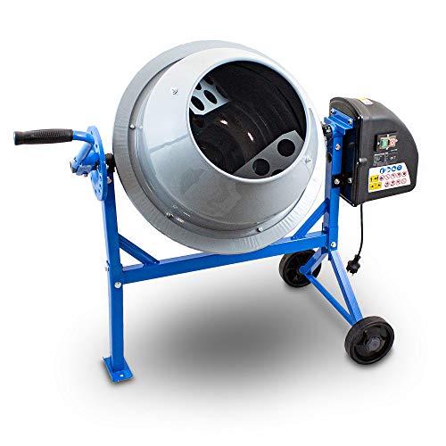 BITUXX® Elektrischer Betonmischer Betonmischmaschine Mörtelmischer Zementmischer 65L