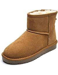 e9de6785b BYUYAN Las botas La Temporada de otoño e Invierno Botas de Nieve Femeninos  Zapatos de algodón Grueso y Corto Chica Caliente Botas…