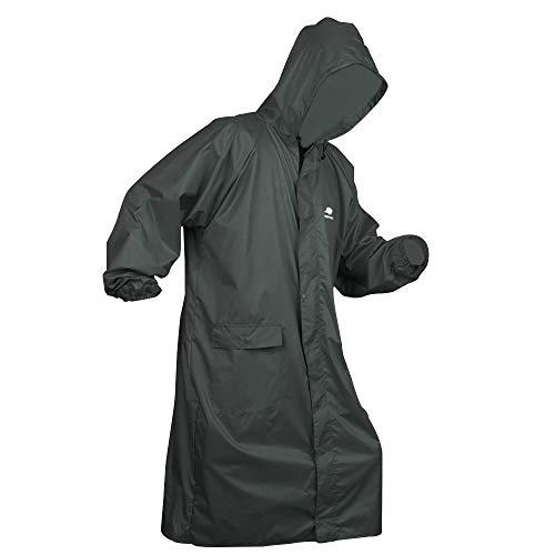 Anyoo Unisex Wasserdichte Tragbare leichte Regenjacke mit Kapuze kompakte Regen Poncho wiederverwendbar mit Ärmeln für Backpacking Camping im Freien …