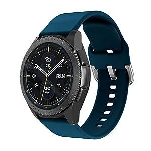 Armband für Samsung Watch Active 20mm, Bloodfin Silikon Uhrenarmband Weiches Ersatzband Sport Zubehörteil Einstellbare Armbänder Atmungsaktive Wristband Damen Herren Klein Groß