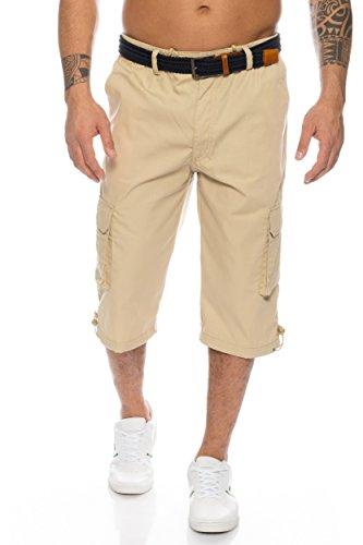 Herren Cargo Shorts mit Dehnbund - mehrere Farben ID505