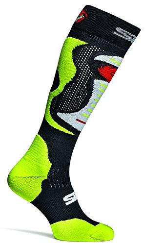 SIDI Motorrad Motocross Enduro Socken Faenza Fluo neon gelb Größe L/XL