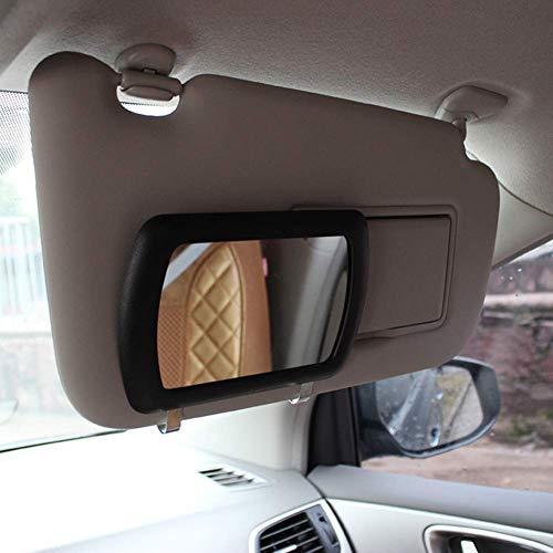 Silence-shopping Miroir de maquillage de voiture miroir cosmétique de voiture miroir de vanité de voiture miroir de soleil ombrage noir fournitures d'automobile 11cm / 4.3''x7cm / 2.7 '' 1 pc noir