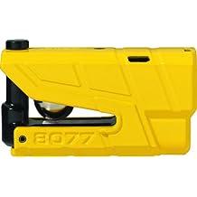 Abus 19004 Candado de disco alarma moto Granit detector X-Plus 8077Sra, amarillo