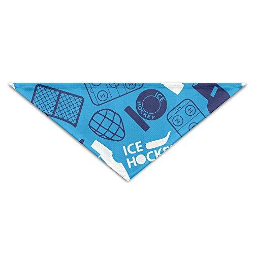 OUYouDeFangA Halstuch, für Hunde, Eishockey-Design, waschbar, Dreiecks-Lätzchen, Zubehör für kleine Haustiere, tolle Geschenkidee