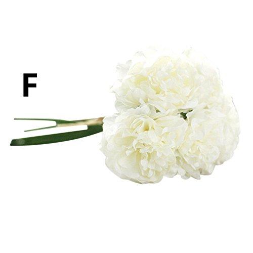 fälschte Blumen Pfingstrose Blumenpflanzen Hochzeit Bouquet Bridal Hydrangea Friedhof Dekor Arrangements Hausgarten Party Hochzeit Dekoration künstliche Blumen (Glas lila) ()