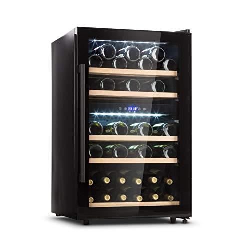 Klarstein Barossa 40D Cave à vin 2 zones 135 litres 41 bouteilles 47dB porte vitrée