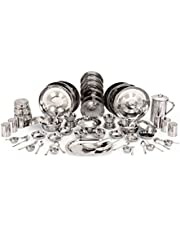 Kitchen Pro Stainless Steel Dinner Set of 61 Pcs