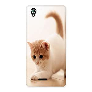 NEO WORLD Remarkable Tail Cat Back Case Cover for Lava Iris 800
